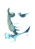 Blue Girl Giclee Print by Jessica Durrant