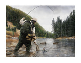 Fishing the Gallatin Giclee Print by Kevin Daniel