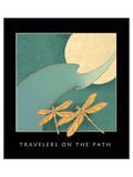 Travelers On The Path 1 Poster by Sybil Shane