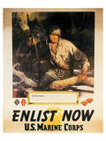 Enlist Now - U.S. Marine Corps Posters by Sgt. Tom Lovell