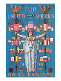 YWCA, For United America Poster by C. Howard Walker