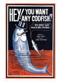 Song Sheet Cover: Hey! You Want Any Codfish Prints