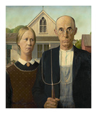 American Gothic, 1930 Giclee Print by Grant Wood