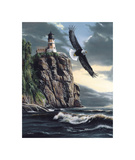 Lighthouse Cliff Giclee Print by Kevin Daniel