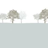 Treeline Blue Posters by Sarah Cheyne