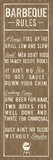Barbeque Rules Print by  The Vintage Collection