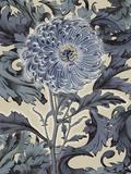 Indigo Deco Flower I Prints by Emma Hill