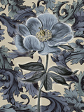 Indigo Deco Flower II Print by Emma Hill