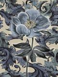 Indigo Deco Flower II Print by Emma Hill