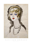 Woman with Pearls Poster by Kees van Dongen