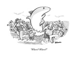 """Where? Where?"" - New Yorker Cartoon Premium Giclee Print by Benjamin Schwartz"
