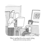 """""""They're expelling Drew from camp for hiding his face from the security ca…"""" - New Yorker Cartoon Premium Giclee Print by Peter C. Vey"""