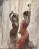 Flamenco II Giclée-tryk af Michael Alford