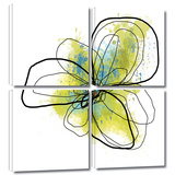 Citron Petals II 4 piece gallery-wrapped canvas Prints by Jan Weiss