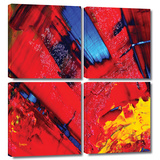 Passionate Explosion 4 piece gallery-wrapped canvas Prints by Byron May