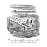 """I've been dumping bodies here for years, and it seems to me that the sea …"" - New Yorker Cartoon Premium Giclee Print by Frank Cotham"