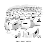 """I miss the old cubicles."" - New Yorker Cartoon Premium Giclee Print by Christopher Weyant"
