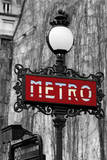 Le Metro Rouge Giclee Print by Bill Philip