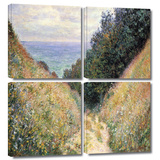 Footpath 4 piece gallery-wrapped canvas Prints by Claude Monet