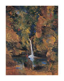Waterfall Malathesan Premium Giclee Print by Boscoe Holder