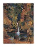 Waterfall Malathesan Premium Giclee Print by Boscoe Holder