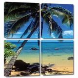 Beautiful Smini Beach 4 piece gallery-wrapped canvas Gallery Wrapped Canvas Set by Kathy Yates