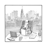 "A CEO reads a book called ""So, You're Going to Prison."" - New Yorker Cartoon Premium Giclee Print by Harry Bliss"