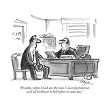 """Frankly, when I took out the loan I sincerely believed we'd all be blown …"" - New Yorker Cartoon Premium Giclee Print by Lee Lorenz"