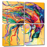 Windswept 4 piece gallery-wrapped canvas Posters by Linzi Lynn
