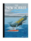 Cap'n Ahab's - The New Yorker Cover, June 30, 2014 Regular Giclee Print by Bruce McCall