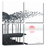Aki 4 piece gallery-wrapped canvas Prints by Cynthia Decker