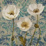 Poppies Crackle III Giclee Print by Tania Bello