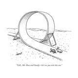 """O.K., Mr. Slow and Steady—let's see you stick this one."" - New Yorker Cartoon Premium Giclee Print by Tom Cheney"