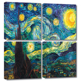Starry Night 4 piece gallery-wrapped canvas Art by Vincent van Gogh