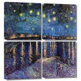 Starry Night over the Rhone 4 piece gallery-wrapped canvas Art by Vincent van Gogh