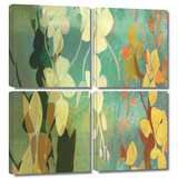 Shadow Florals 4 piece gallery-wrapped canvas Gallery Wrapped Canvas Set by Jan Weiss
