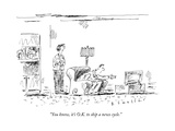 """You know, it's O.K. to skip a news cycle."" - New Yorker Cartoon Premium Giclee Print by Barbara Smaller"