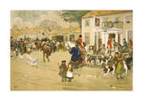 The Meet Premium Giclee Print by Albert Ludovici