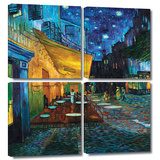 Café Terrace at Night 4 piece gallery-wrapped canvas Gallery Wrapped Canvas Set by Vincent van Gogh