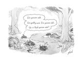 A patch of leaves wonders whether it itself is poison oak. - New Yorker Cartoon Premium Giclee Print by Tom Toro