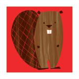 Little Beaver Giclée-tryk