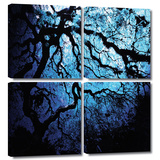 Japanese Ice Tree 4 piece gallery-wrapped canvas Gallery Wrapped Canvas Set by John Black