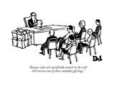 """Anyone who isn't specifically named in the will still receives one of the…"" - New Yorker Cartoon Premium Giclee Print by Drew Dernavich"