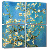 Almond Blossom 4 piece gallery-wrapped canvas Gallery Wrapped Canvas Set by Vincent van Gogh