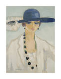 Lady with Beads, 1923 Premium Giclee Print by Kees van Dongen