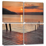 Another Kekua Sunrise 4 piece gallery-wrapped canvas Prints by Steve Ainsworth
