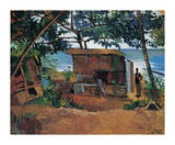 Hut by the Sea Premium Giclee Print by Boscoe Holder