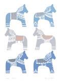 Dala Horse Giclee Print by Zoe Badger