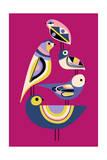 Bauhaus Birds Impression giclée
