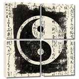 Tao 4 piece gallery-wrapped canvas Poster by Elena Ray